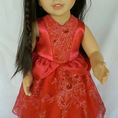Red Princess Gown