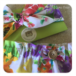 GORGEOUS GUSSIES SET 'Spring Bouquet', Girl, Bloomers, Headwrap
