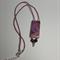 Purple Rose Tile Beaded Necklace