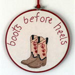 Boots Before Heels hoop art