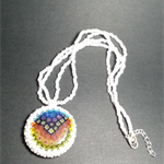 Rainbow Glass Millefiori Pendant Necklace