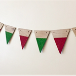 Timber Christmas Bunting - Large Half Glitter / Banner / Garland Made to order