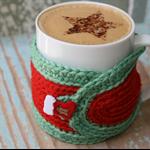 Perfect Stocking Filler Handmade Crochet Mug Cosy/Jar Cover ~ Ready to Post