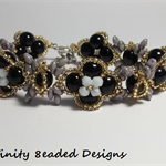 Butterflies and Flowers Beaded Bracelet