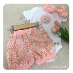 BUBBLE SHORT SET - 'Bubbling Over', Girl, Bloomers, Capri, Twist Top