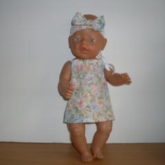 Dress and Headband for Baby Born Doll or similar 48cm dolls