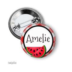Name badge - Watermelon personalised badge
