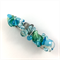 Handcrafted wire wrapped beaded hair clip / ponytail holder - glass twists