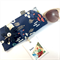 Glasses / sunnies case with detachable flower brooch - navy swans