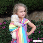 Toy Doll Carrier - Rainbow -  Ring Sling - Babywearing Wrap
