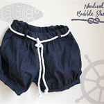 Size 8 Nautical Bubble Shorts