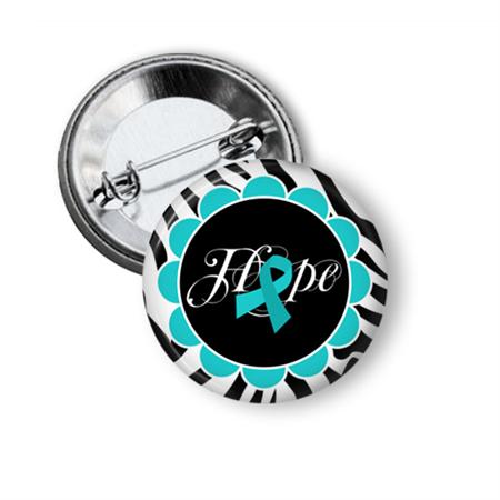 Ovarian cancer awareness badge or magnet
