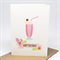 Birthday Card Girl - Strawberry Milkshake - HBC235 / Floral Happy Birthday