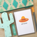 Birthday Card, Mexican Hat, Sombrero Hat, HBF175