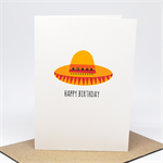 Birthday Card Male or Female - Sombrero Hat - Mexican - HBF175