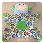 MONKEY BLANKIE, Minkee, Softie, Comforter, Ribbons, Tags
