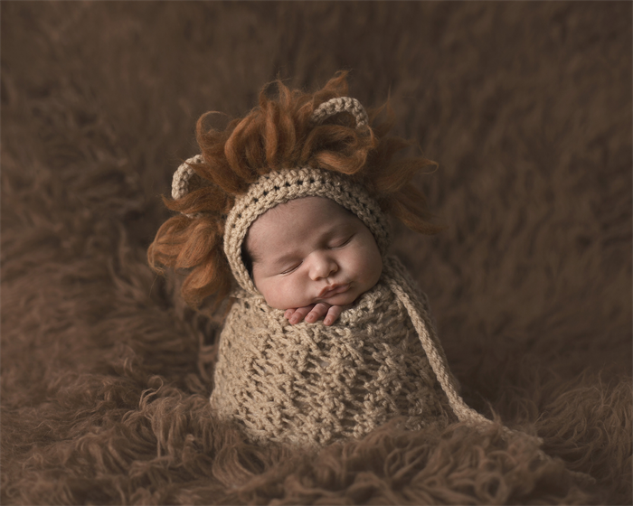 Baby lion bonnet unisex newborn photography prop baby boy prop