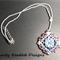 Snow White Rivoli Beaded Pendant Necklace