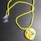 Sunflower Shell Pendant Beaded Necklace