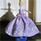 Peg Doll Hand-painted, Lavender Girl, wood chiffon paint, ornament clothespin