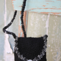 Black and Silver Bag Purse Handmade Christmas Gift Pop in a Gift Voucher/Card