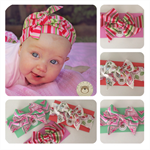 HEADWRAP SET OF 3, Baby Girl, Big Bow, Top Knot, Rosette, Turban Style!