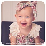 HEADWRAP - Japanese Lawn, Baby Girl, Big Bow, Top Knot, Rosette, Turban Style!