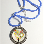 Fruit Filled Heart Tree Pendant Necklace