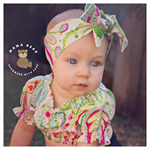 HEADWRAP - Baby Girl, Big Bow, Top Knot, Rosette, Turban Style!
