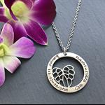 Personalised Pet Loss Necklace - Pet Memorial Gift - Memorial Jewellery