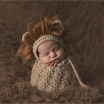 Baby Lion Bonnet / Unisex Newborn Photography Prop /  Baby Boy Prop