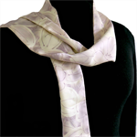 Silk scarf in mauve and cream.  Recycled from vintage kimono