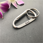 Personalised boyfriend gift - BAE keyring - customised keyring for husband