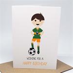 Birthday Card Boy - Soccer Boy and Soccer Ball / Football - HBC246