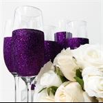 6 Glitter Champagne Glasses Bridesmaid Gifts Rio