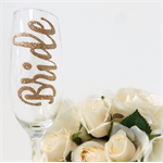 Bride Champagne Toasting Flute Hand Painted Personalised Gifts Rio