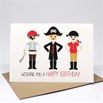 Birthday Card Boy - 3 Pirates - HBC243