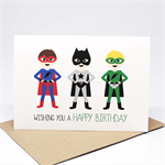 Birthday Card Boy - Supeheroes - HBC242