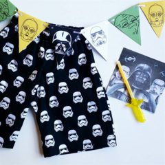 starwars inspired black shorts boys size 4