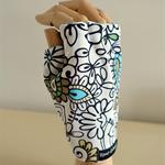 Glove: sun glove for golf, right hand, sunprotective, fingerless, UV protection