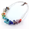 Summer rainbow crystal necklace
