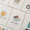 Personalise Your Handmade Card - TEXT ON FRONT of Card Only