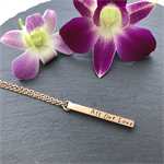 Vertical Gold Bar Necklace - Gold Bar Necklace - Personalised Bar Necklace