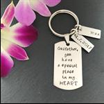 Personalised Godfather Gift - Personalised Godparent Gift - Godfather Keyring