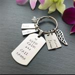 Gift for Grandma - Grandma Gift - Nanna Gift - Hand Stamped Keyring