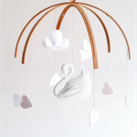 The Swan Nursery Mobile in White ♥ (custom)