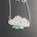 Raining Cloud Beaded Necklace
