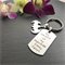My Dad is My Superhero - Dad Gift - Keyring for Dad - Hand Stamped Keyring