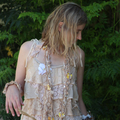 altered couture upcycled layer dress vintage lace