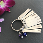 Name Tag Keyring - Grandfather Gift - Grandmother Gift - Grandparent Gift